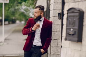 Suave Man Vaping